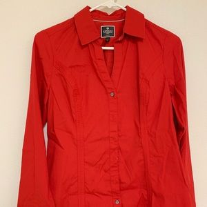 Express long sleeve collared blouse